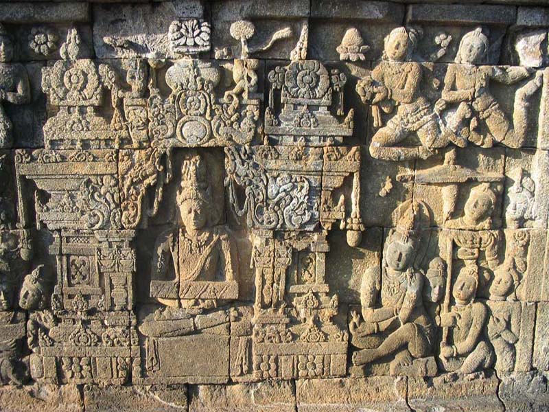 Relief of Borobudur Temple - Central Java
